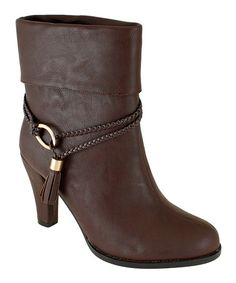 Another great find on #zulily! Chocolate Tassel Dorthy Ankle Boot by Lena Luisa #zulilyfinds