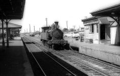 New South Wales Government Railways (NSWGR) Steam tank locomotive 3113 at the railway station at Campbelltown, N.S.W. Australia.