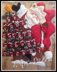 Patrones Santas y elfos 2014: patrón de papel de Santa Blueberry advenimiento