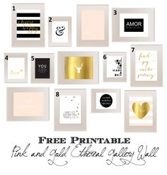 Pink and Gold Numbered Gallery Wall pinker_resized