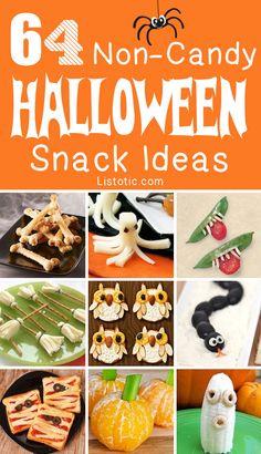 64 NON-CANDY Halloween snack ideas!
