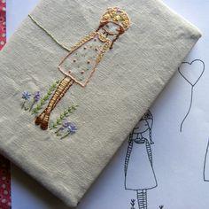 daisy girl embroidery pattern PDF