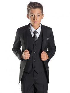 Paisley of London, Boys Black Suit, Boys Page boy Suits, Boys Wedding Suits Kids Wedding Suits, Wedding Outfit For Boys, Black Suit Wedding, Boys Black Suit, Black Suits, Slim Fit Suits, Slim Fit Jackets, Paisley, Communion Suits For Boys