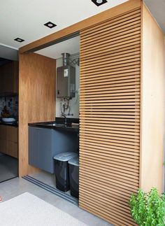 Apartamento tem estilo industrial e varanda que parece quintal delivers online tools that help you to stay in control of your personal information and protect your online privacy. Laundry Room Design, Laundry In Bathroom, Laundry Nook, Outdoor Laundry Rooms, Diy Barn Door, Küchen Design, Home Interior Design, Small Spaces, Sweet Home