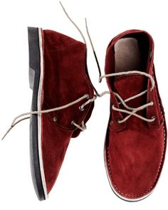 Red Suede Erongo : Brother Vellies made in the coastal town of Swakopmund, Namibia. There, a small group of eight Damara gentlemen assemble every shoe by hand, turning out just 20 pairs an afternoon. Ugly Shoes, Fancy Shoes, Red Shoes, Me Too Shoes, Men's Shoes, Tomboy Chic, Street Style Summer, My Guy, Style Guides