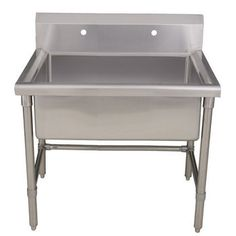 Kitchen Sinks - Noah's Collection Large Commercial Freestanding Laundry/ Utility Sink | KitchenSource.com