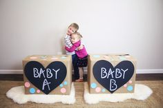 Gender reveal ideas for twins!