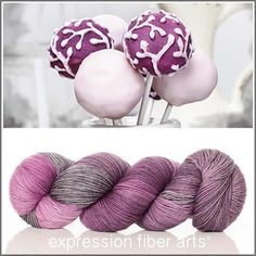 Expression Fiber Arts Yarn - CAKE POPS - superwash merino wool resilient sock fingering weight sock yarn. Oh la la!