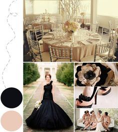 Black and nude for a wedding or other party! Very sexy! Love it