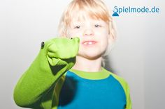 Der freche Froschi  Longsleeve mit Handpuppe am Ärmel von Spielmode