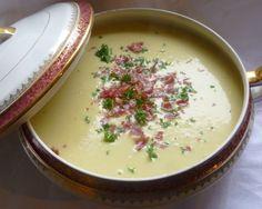 soupe vichyssoise au jambon cru