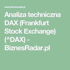 Analiza techniczna DAX (Frankfurt Stock Exchange) (^DAX) - BiznesRadar.pl