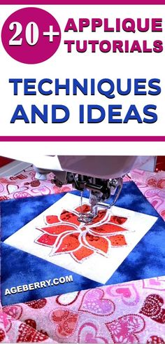 Learn how to applique with these 20 sewing tutorials. Check out these applique techniques and ideas on how to hand applique, how to applique with a sewing or embroidery machine and how you can use Cricut to cut applique shapes. Sewing For Beginners Diy, Sewing For Dummies, Sewing Basics, Sewing Hacks, Sewing Tutorials, Sewing Tips, Sewing Ideas, Free Machine Embroidery, Machine Applique