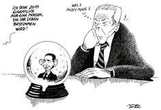 """OÖN-Karikatur vom 29. Dezember 2016: """"Bei der Wahrsagerin"""" Mehr Karikaturen auf: http://www.nachrichten.at/nachrichten/karikatur/ (Bild: Mayerhofer)"""