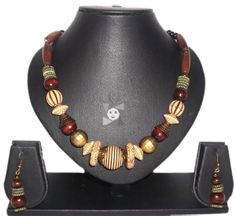 Brown and Off White Beaded #Necklace   Buy #online here at the lowest price  http://www.ealpha.com/funky-jewellery/80