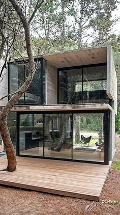 Container House - Luciano Kruk Designs a Home in the Seashore Town of Mar Azul, Argentina - Who Else Wants Simple Step-By-Step Plans To Design And Build A Container Home From Scratch? Building A Container Home, Container Buildings, Container Architecture, Container House Plans, Architecture Design, Cargo Container, Container Gardening, Container Van, Beautiful Architecture