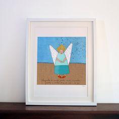 lustração Anjo da Guarda  Guardian Angel by carapaudecorridashop, €25.00