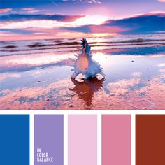 Lovely shades of the other side of the color wheel