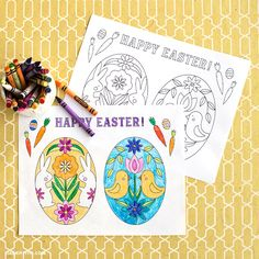 Happy Easter Coloring Sheet: