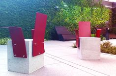 C BLOCK from ZANO - urban concrete chair is perfect for business centres and spaces surrounded by concrete buildings.