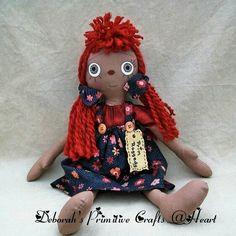 Handmade Primitive Raggedy Ann Doll Owl Background, Ann Doll, Raggedy Ann, Rag Dolls, Primitive, Teddy Bear, Christmas Ornaments, Trending Outfits, Toys