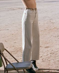 """Thrills Co on Instagram: """"THE CANYON JEAN 〰️ Wide-leg, 70s-inspired goodness. Tap to shop it now."""" Minimal Fashion, Wide Leg, Khaki Pants, Good Things, Legs, Inspired, Lifestyle, Celebrities, Inspiration"""