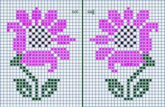 Small Cross Stitch, Cross Stitch Letters, Cross Stitch Rose, Cross Stitch Borders, Cross Stitch Flowers, Cross Stitch Designs, Cross Stitching, Bead Loom Patterns, Stitch Patterns