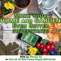 Win a NEW Iphone 4S or 1 of 10 $50 Home Depot Gift Cards CANADA only Ends May 30th 2012