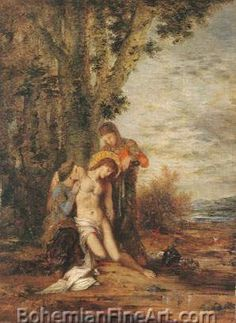 Gustave Moreau, Saint Sebastian and the Holy Women Fine Art Reproduction Oil Painting