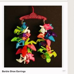 Barbie Shoe Earrings Handmade Jewelry Earrings