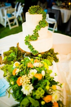 Wedding cake with neat decoration..