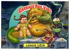Loogie_Leia_Star_Wars_Garbage_Pail_Kids_Card.