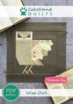 Wise Owl Downloadable PDF Block Pattern CakeStand Quilts