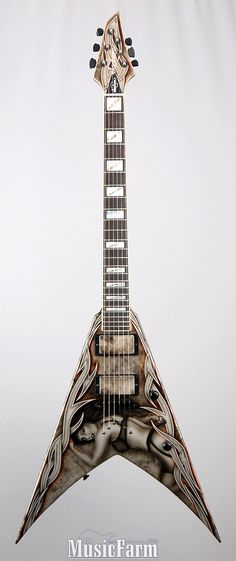 "2011 JACKSON Custom Shop King V KV2T Handpainted by Rosendo - ""Hot Girl"" (via Reverb)"
