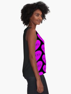 """""""I Heart Dad Pink Pattern"""" Sleeveless Top by aventi24 