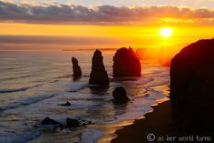 Sunset at Twelve Apostles.