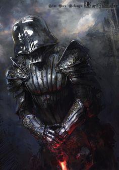 Darth Vader Medieval redesign paint/bash, Klaus Wittmann, 2015