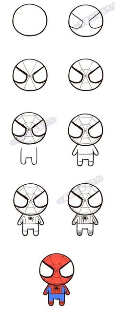 Draw Spiderman to drawing spiderman Marvel Drawings, Cartoon Drawings, Easy Drawings, Spiderman Drawing, Spiderman Art, How To Draw Spiderman, Easy Drawing Steps, Step By Step Drawing, Diy Tattoo