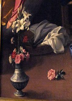 Jacopo Chimenti detto L'empoli, annunciazione, dettaglio, Florence, Sta Trinità, 1609