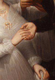 Un Mariage en 1830 (Détail) - Attribué à José Guttierrez de la Vega.