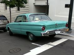 1960-1963 Ford Falcon, Stockton and California streets, San Francisco  (at the Ritz-Carlton...ooooh, fancy!)