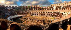 Colosseum (Flavian Amphitheater). Rome, Italy. Imperial Roman. 70–80 C.E. Stone and concrete.
