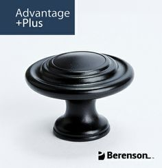 Berenson Advantage Plus 4 Cabinet Hardware: Item No 0935-155-P - Cabinet Knob in Black. Questions? Call 1.800.333.0578 or email info@berensonhardware.com