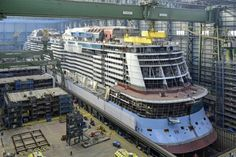 Ovation of the Seas construction at Meyer Werft Shipyard October 7 2015