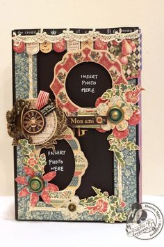 This French Country 5x8 Altered Art Box by @Sharon Ngoo can used for years with the photo slots. Amazing creation! #graphic45