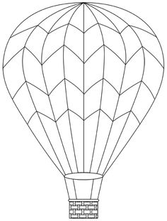 Hot air balloon - April 29 (can print more templates too)
