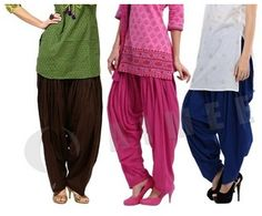 Get 60% OFF ON Pack Of 3 – Premium Patiala Salwar. This solid pair of patiyala pants from the brand is designed keeping in mind the current trend for fusion wear.