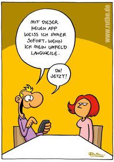 Cartoon - App - Langeweile