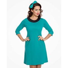 Tyrkysové šaty Lindy Bop Ronnie High Neck Dress, Dresses For Work, Fashion, Turtleneck Dress, Moda, Fashion Styles, Fashion Illustrations, High Neckline Dress