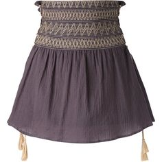 Harare High-rise Gathered Skirt (23,180 INR) ❤ liked on Polyvore featuring skirts, high-waist skirt, high-waisted skirts, purple high waisted skirt, gathered skirt and cotton skirts